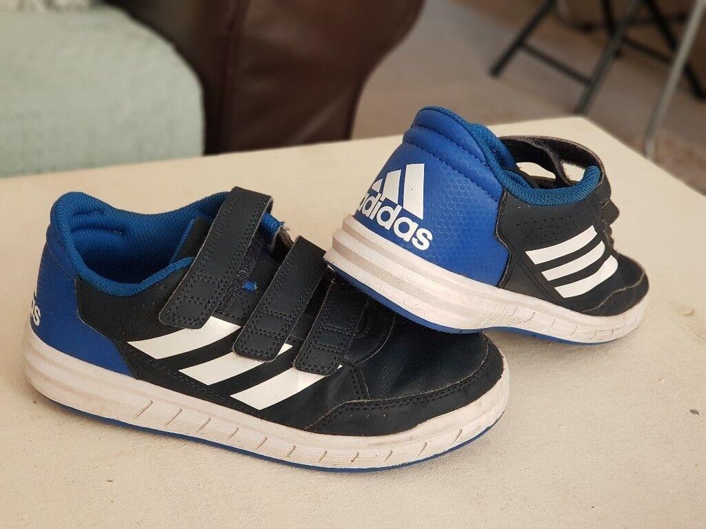 9bca06da8160 adidas AltaSport CF kids boys shoes Size 1 blye white navy