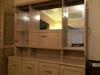Wall cabinet and matching music/drink cabinet