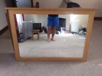 Solid Oak surround mirror 1.35m x 0.90m