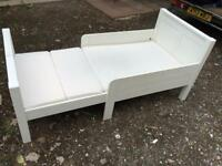 Free Single adjustable bed and mattress