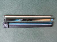 NEW Power Glide Classic John Parrott Snooker Cue with Case & Chalk.