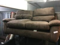 BROWN SUEDE SOFA WORKSHOP SOFA BED (DELIVERY AVAILABLE)
