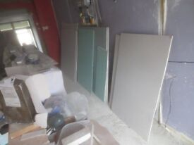 8 half sheets of plasterboard + loads of offcuts!