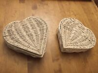 Heart shape wicker baskets