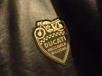 DUCATI Retro style Unisex leather Jacket, by Dainese