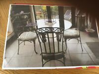 Italian Glass top dining table and chairs