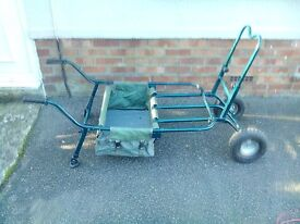 Two wheel fishing barrow in green £30