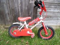 Girls Bike. Bicycle to suit age 2-3 years