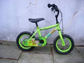 "Kids Bike by Apollo, Green, 12 1/2 "" Wheels Great for Kids 3+ Years JUST SERVICED / CHEAP PRICE!!!"