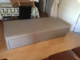 Single Bed Base with double drawer storage