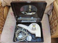 Vintage Morphy Richards hair drier, in bakelite case.