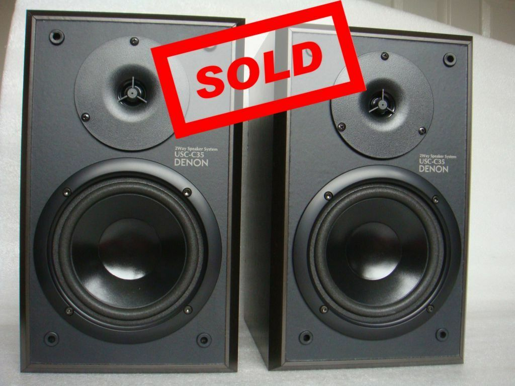 Denon USC C35 Bookshelf Speakers 50 Watt