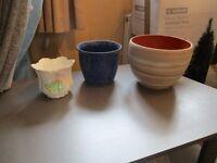 Indoor plant pots....