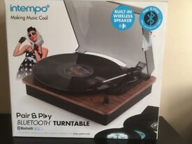 Intempo Blutooth Turntable