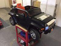 Complete Slight Used Black 12V Hummer HX Electric Kid On Ride Parental Control