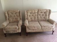 COTTAGE STYLE SOFA AND 3 CHAIRS