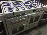 New Graded Bush 100cm Dual Fuel Range Cooker - White