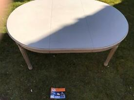 Round OR Oval Dining Table (accommodates FOUR to SIX people)