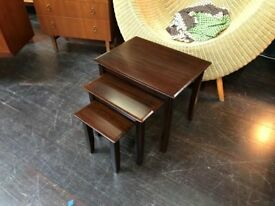Rosewood Nest of Tables. Retro Vintage Mid Century