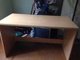Beech coloured desk free