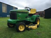 Powerful big John Deere GX355 Diesel compact tractor ride on mower sit lawnmower lawn tractor garden