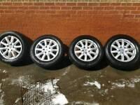 Porsche Alloys with Continental tyres