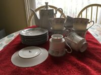 Crown Ming Fine China Coffee Pot, cups and saucers PRICE REDUCTION