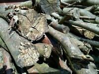 Beech aged fire wood burner