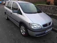Vauxhall Zafira 1.6 i 7 seater 16v Club 5dr £799