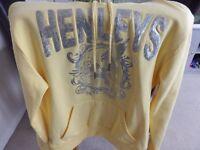 brand new henleys hooded sweatshirt very glam size 10
