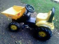 JCB ride on dumper toy