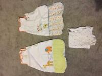 grow bags and swaddle blanket