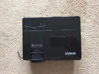 HD Portable Projector, WIMIUS T3 1200 includes tripod. Black colour. - USED ONCE only