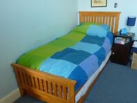 Single bed with pull out guest bed. Matresses included