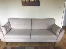 Sofa-4seater, 2 seater and footrest, includes lots of other homeware.