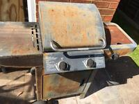Gas BBQ 2 grill burners with side burner -FREE