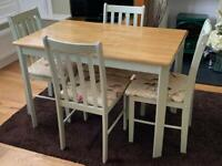 Upcycled dining room table and chairs