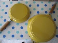 Two Chasseur - Frypans with Wood Handle – New and unused.