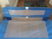 Blue lindam bed rail