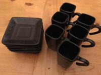 6 x Broste copenhagen Expresso cups & saucers