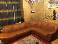 8 seater Italian leather corner sofa