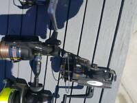 Fishing reels all used for carp fishing