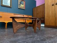 Astro Oval Coffee Table by VB Wilkins for GPlan. Retro Vintage Mid Century. 1960s