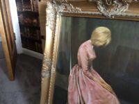 Large ornate framed picture