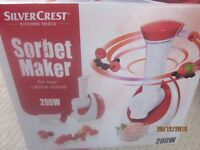 Sorbet maker, new in box with instructions