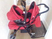 Red Joie push chair/pram
