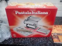 Imperia pasta machine, and book,unwanted xmas present, brand new