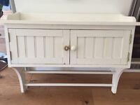 White shabby/shaker style bathroom cabinet 77cm(W) 24cm(D) 61cm(H)