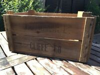 Vintage apple crates / bushel boxes