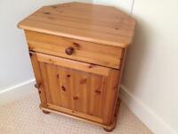 Solid Pine Corner Cabinet / Unit